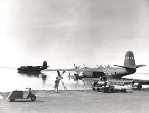 Naval Air Transport at Honolulu Airport, 1940s.
