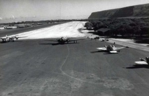Barking Sands Air Base, Kauai, with B-24, C-47 and C-45 aircraft, 1942.