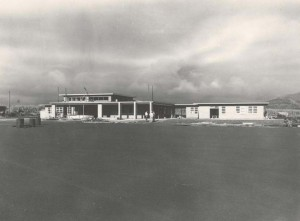 Construction of Lihue Airport Terminal, Kauai, December 14, 1949.