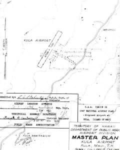 CAA Region IX, 1947 National Airport Plan, Proposed airport at Kula, Maui, Master Plan, February 26, 1947.