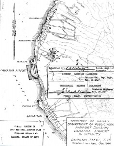 CAA Region IX, 1947 National Airport Plan, Proposed airport at Lahaina, Maui, February 26, 1947.