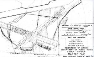 CAA Region IX, 1947 National Airport Plan, Maui Airport at Puunene, Maui Master Plan, February 26, 1947.