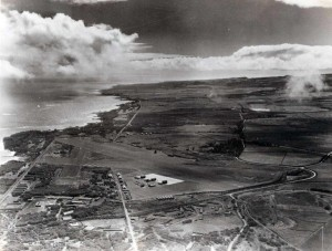 Puunene Airport, Maui, looking east, 1948.