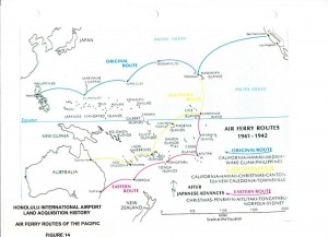Pacific Air Ferry Routes, 1941-1942.