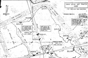 Oahu Air Traffic Plan, July 15, 1944.