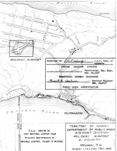 CAA Region IX, 1947 National Airport Plan, Proposed improvements to Molokai Airport, February 26, 1947.