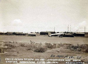 Operations and radio station, Homestead Field, Molokai, July 31, 1948.