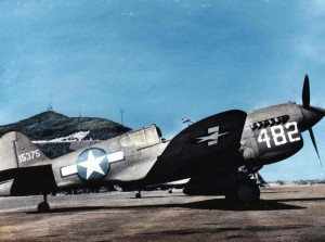 Curtiss P-40 assigned to 333rd Fighter Squadron, 318th Fighter Group, 75th Air Force at Bellows Field, 1943.