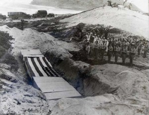 Preparing time capsule for opening of Naval Air Station Kaneohe on February 15, 1941.