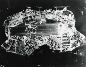 Ford Island, Naval Air Station Pearl Harbor, February 1945.