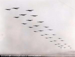 B-18 Formation over Oahu, April 6, 1940.
