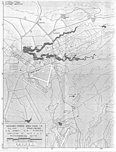 U.S. Army Air Forces map showing Wahiawa-Kipapa area, August 1944.