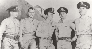 Wheeler Field heroes: 2nd Lt. Harry Brown, Philip M. Rasmussen, Kenneth M. Taylor and George S. Welch, and 1st Lt. Lewis M. Sanders together downed nine Japanese planes on December 7, 1941. Welch got four and Taylor two, and were decorated with Distinguished Flying Crosses.