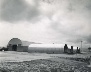 Quonset huts, Hilo Airport, 1955.