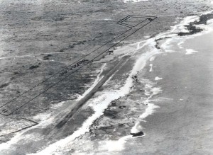 Site of Kona Airport, Hawaii. New runway to be located as shown. Emergency landing strip in foreground. c1953-1959.