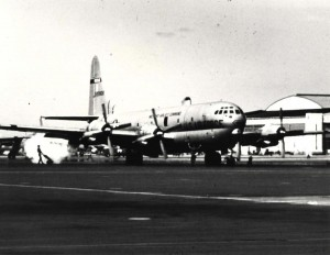 Curtiss C-97 at Hickam Air Force Base, 1950s.