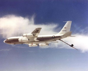 EC-135J Stratotanker assigned to the 9th Airborne Command & Control Squadron, Hickam Air Force Base, c1950s-1980s.