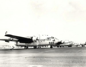 C-119 aircraft at Hickam Field, 1958-1961.