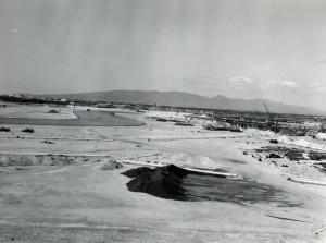 Construction of Interisland Terminal, Honolulu International Airport, 1959.