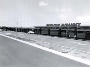 Hawaiian Airlines at Interisland Terminal, Honolulu International Airport, 1959.
