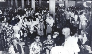 With the increase in flights and tourists, Honolulu International Airport became crowded and the need for a larger airport became apparent, 1950s.