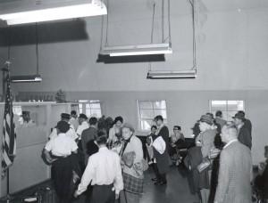 U.S. Immigration Service, Honolulu International Airport, 1950s.