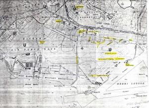 U.S. Geological Service Map of Honolulu International Airport/Hickam Air Force Base area, 1952.