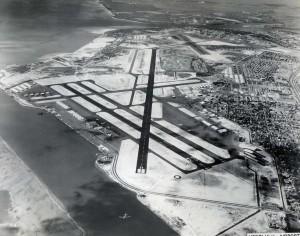 Honolulu International Airport runways, 1959.