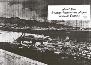 Aerial View, Honolulu International Airport, 1952.