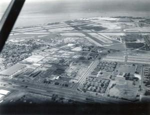 Honolulu International Airport, 1959, before construction began on new terminal.
