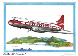 Hawaiian Airlines Convair, 1952.