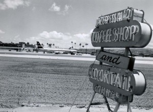 Coffee Shop, Honolulu International Airport, 1959.
