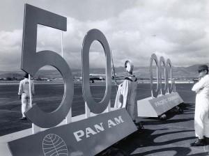 Pan American Airways 50,000th flight to Honolulu, April 29, 1959.