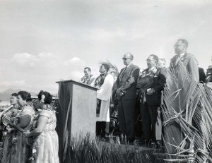 Groundbreaking ceremony for Kahului Airport, February 3, 1959.