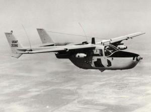 Cessna O-2A aircraft stationed at Hickam Air Force Base, Hawaii, 1967.