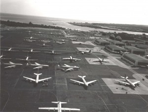 Hickam flight line, 1960s.
