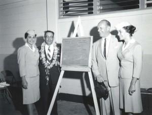 Dedication of the new Interisland Terminal at Honolulu International Airport, 1961.