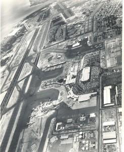 Aerial of Honolulu International Airport, late 1960s.