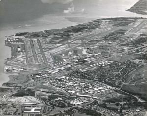 Aerial of Honolulu International Airport, 1962.