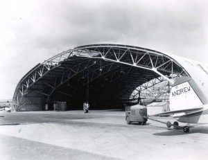 Andrew Air Service Hangar at Honolulu International Airport, 1964.