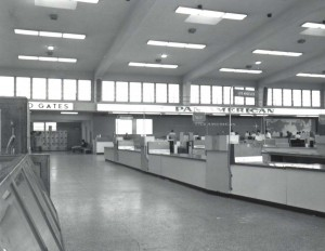 Pan American Airways Ticket Lobby, Honolulu International Airport, 1960.