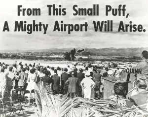 Kahului Airport, Maui, Groundbreaking ceremony, February 1, 1965.