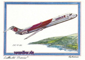 Hawaiian Airlines 9-50, 1976.