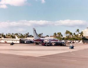 Western Airlines at Honolulu International Airport, December 9, 1976.