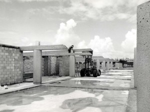 Construction of General Lyman Field terminal, Hilo, Hawaii, 1975.