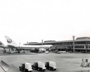 Japan Air Lines at Honolulu International Airport, 1972.