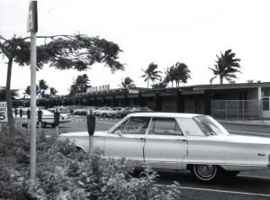 Honolulu International Airport, Hawaiian Airlines Passenger Terminal, 1970s.