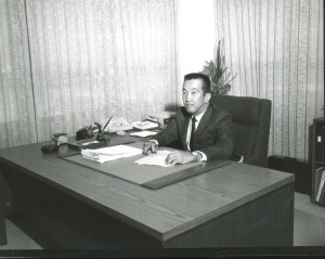 Owen Miyamoto, Airports Administrator, Hawaii Department of Transportation, 1972.