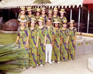 Visitor Information Program staff, Honolulu International Airport, 1980s.