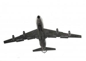 KC-135 flying over Hickam Air Force Base, Hawaii, 1975.